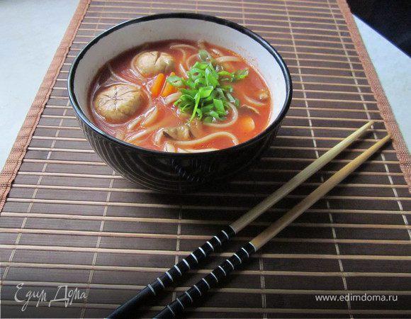 рецепты с лапшой удон суп рецепт