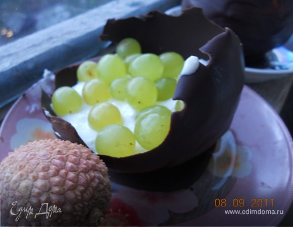 Шоколадные креманки с начинкой!