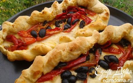 Рецепт + Хлеб с вялеными перцами