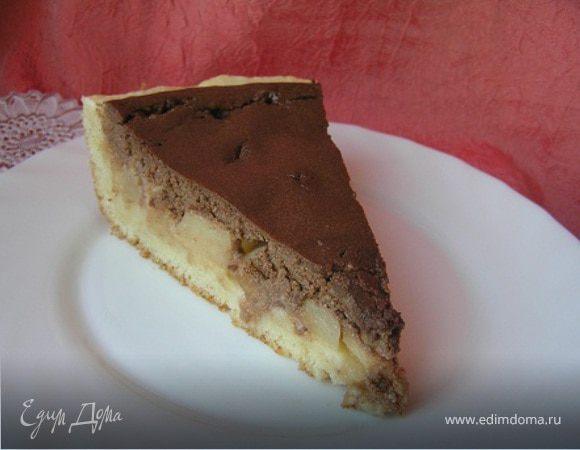 Творожно-шоколадный тарт с дыней