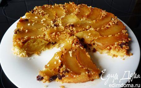 """Рецепт Яблочный тарт """"Татен"""" с орешками и изюмом"""