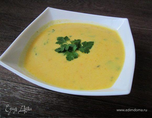 Морковный суп с сыром