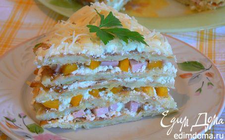 Рецепт закусочный торт из кабачка