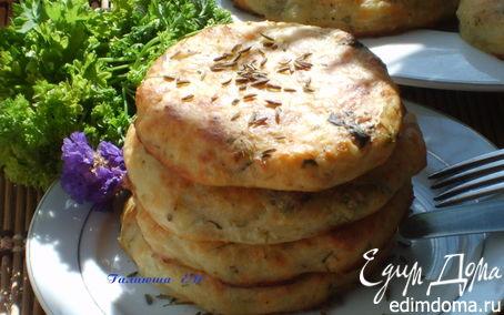Рецепт Лепешки картофельно-творожные с тмином и травами