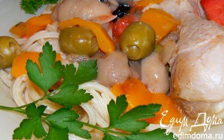 Рецепт Курица с оливками