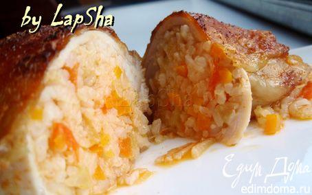 Рецепт Куриные бедра, фаршированные рисом