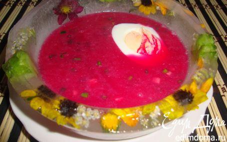 Рецепт Холодный свекольник в ледяной тарелке