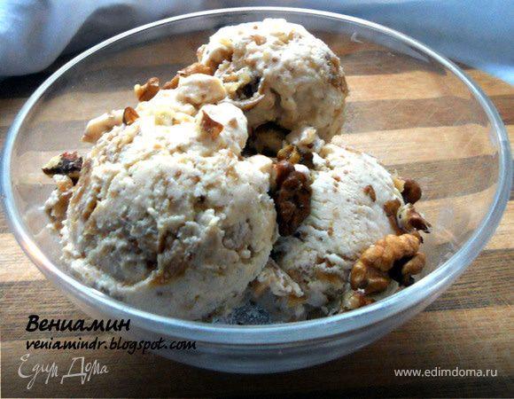 Творожное мороженое с медом и инжиром