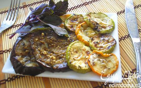Рецепт Цукини и баклажаны в медово-бальзамичном маринаде