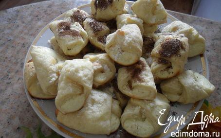 Рецепт Пирожное слоёное с творогом