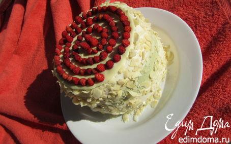 """Рецепт Торт-суфле """"Мята+земляника"""""""