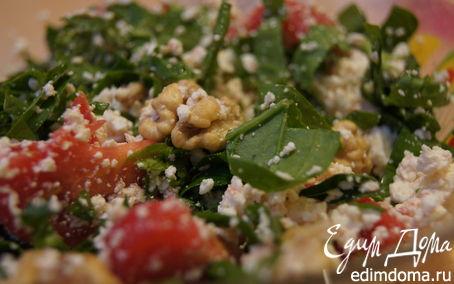 Рецепт Легкий салат с творогом