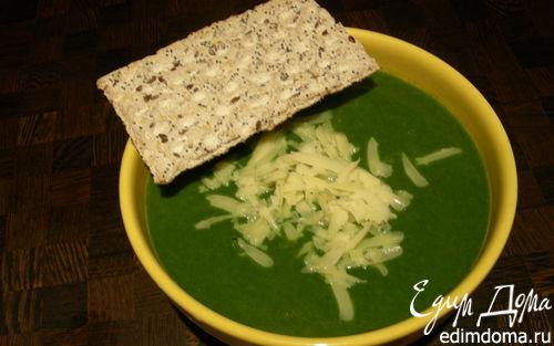 """Рецепт """"Зелененький он был"""", или крем-суп из цветной капусты и шпината с кокосовым молоком"""