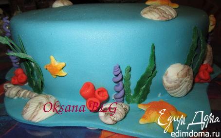 Рецепт МК украшения для морского тортика