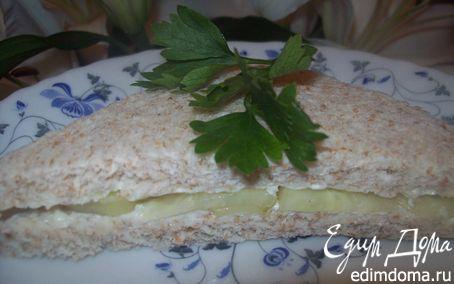 Рецепт Английские сэндвичи с огурцом