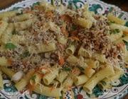 Макароны с мясом и овощным рагу