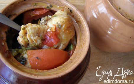 Рецепт Курица в горшочках, томлёная с овощами