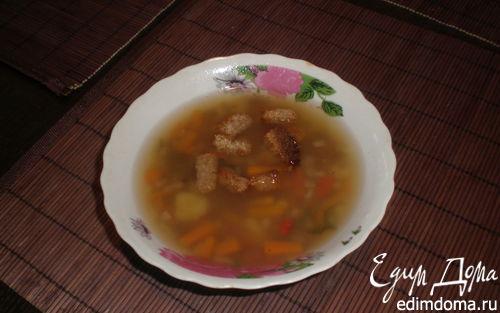 Рецепт Постный суп с сухариками