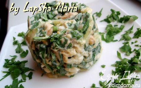 Рецепт Салат с курицей и шпинатом