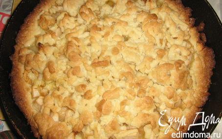 Рецепт Тертый яблочный пирог.