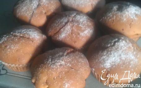 Рецепт Маффины с персиком и клюквой