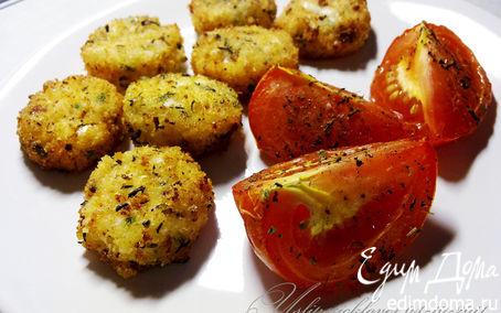 Рецепт Сырные шарики с запеченными помидорами