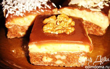 Рецепт Мини-пирожные с тоффи без выпекания