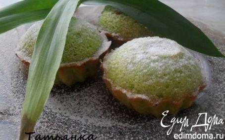 Рецепт Зеленые маффины с чаем матча