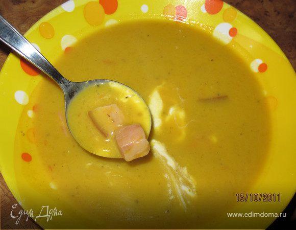 Суп тыквенный с беконом
