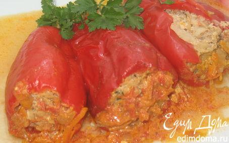 Рецепт Перцы, фаршированные капустой с фаршем