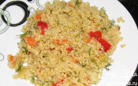 Рецепт Киноа с овощами и спаржей
