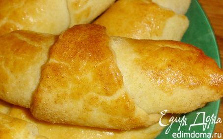 Рецепт Рогалики с абрикосовым вареньем и грецкими орехами