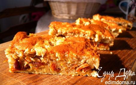 Рецепт Пирог на хлопьях с сушеными абрикосами