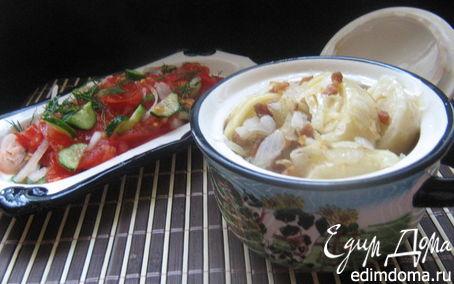 Рецепт Кручёные паровые галушки с картофелем и шкварками.