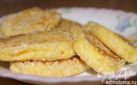 Рецепт Лимонные сырники в кунжутной панировке