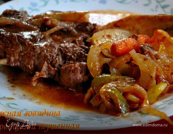 Рецепт нежной говядины в духовке