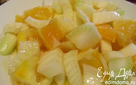 Рецепт Салат из фенхеля и апельсинов с цитрусовой заправкой