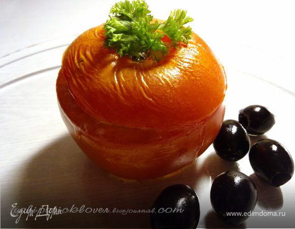 Помидоры, фаршированные творогом, сыром и маслинами