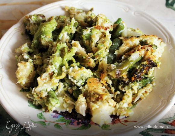 Жареные овощи с сыром
