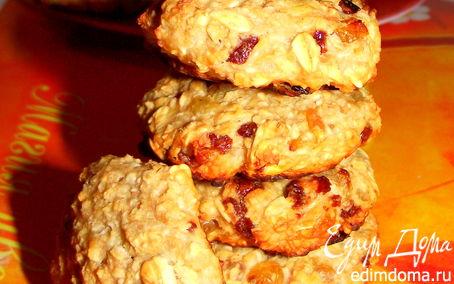 Рецепт Очень полезные овсяные печенья