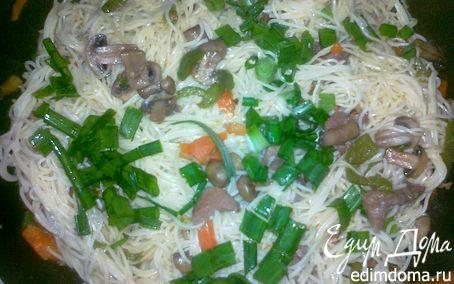 Рецепт Свинина с лапшой - Pork Lo Mein
