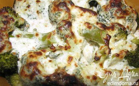 Рецепт Брокколи под сметанно-сырным соусом в пароварке