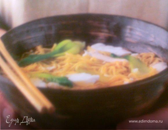 Китайская лапша с курицей и рыбой - Cross the bridge noodles