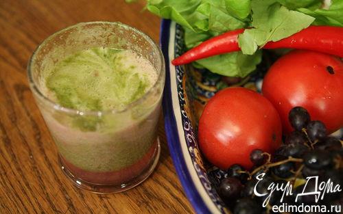 Рецепт Виноградно-грушевый сок с сельдереем и листьями салата