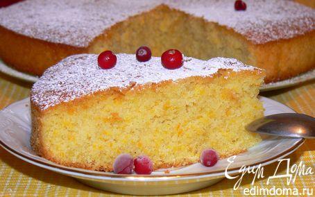 Рецепт Aпельсиновый пирог с кукурузной мукой