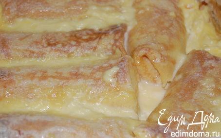 Рецепт Блинчики в ванильном соусе