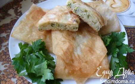 Рецепт Конвертики из лаваша (с начинкой из сырого картофеля)