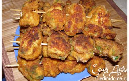 Рецепт Шашлычки из курицы в панировке