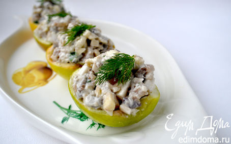 Рецепт Салат из сельди в яблоках+селёдочный паштет