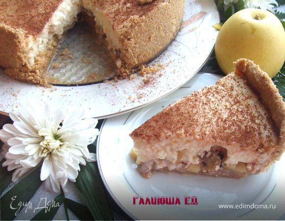 Овсяный пирог с йогуртово-творожной заливкой
